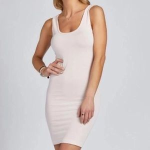 C'est Moi Bamboo Seamless Tank Dress White